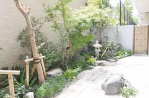 小奇麗なゲストルーム小庭